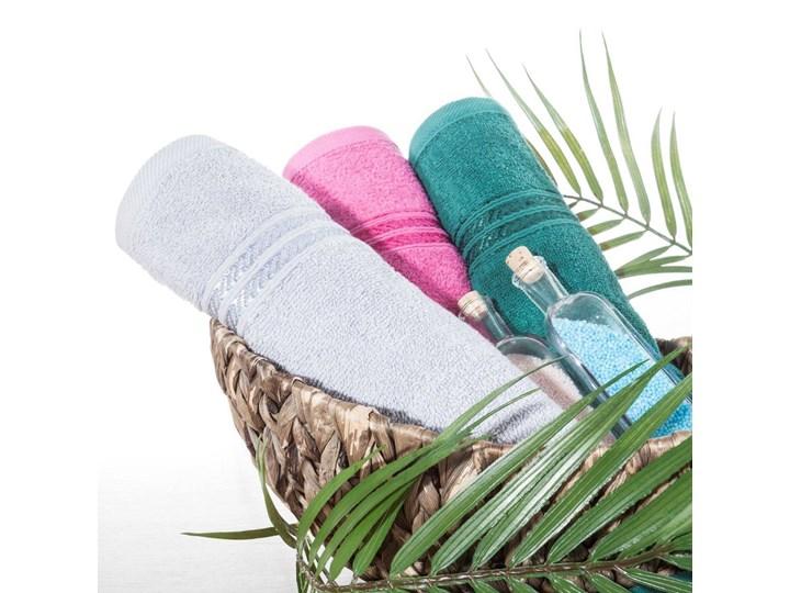 Ręcznik kąpielowy kremowy 50x90 frotte 450g/m2 elegancki, lśniąca bordiura, Lori 50x90 cm Bawełna Kolor Beżowy
