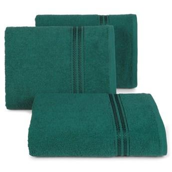 Ręcznik kąpielowy ciemny zielony 50x90 frotte 450g/m2 elegancki, lśniąca bordiura, Lori