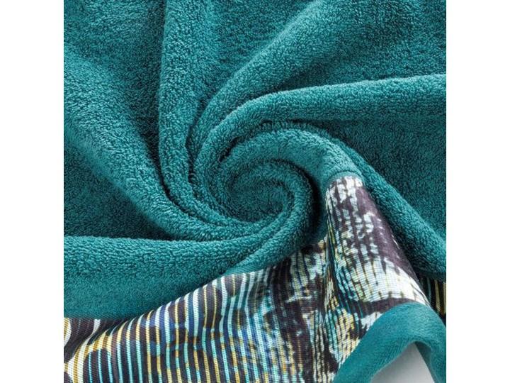 Ręcznik Eva Minge Carla turkusowy w rozmiarze 70x140 z drukowaną bordiurą Bawełna 70x140 cm Ręcznik kąpielowy Kategoria Ręczniki