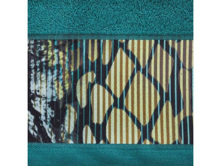 Ręcznik Eva Minge Carla turkusowy w rozmiarze 70x140 z drukowaną bordiurą 70x140 cm Ręcznik kąpielowy Bawełna Kategoria Ręczniki