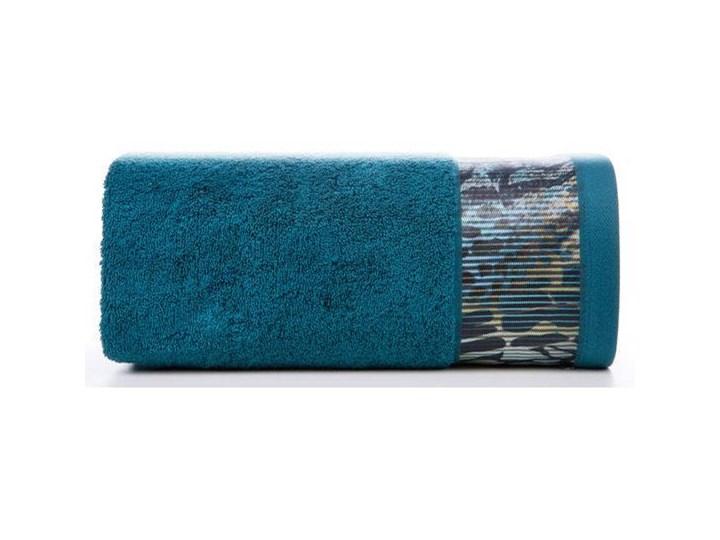 Ręcznik Eva Minge Carla turkusowy w rozmiarze 70x140 z drukowaną bordiurą Bawełna Ręcznik kąpielowy 70x140 cm Kategoria Ręczniki