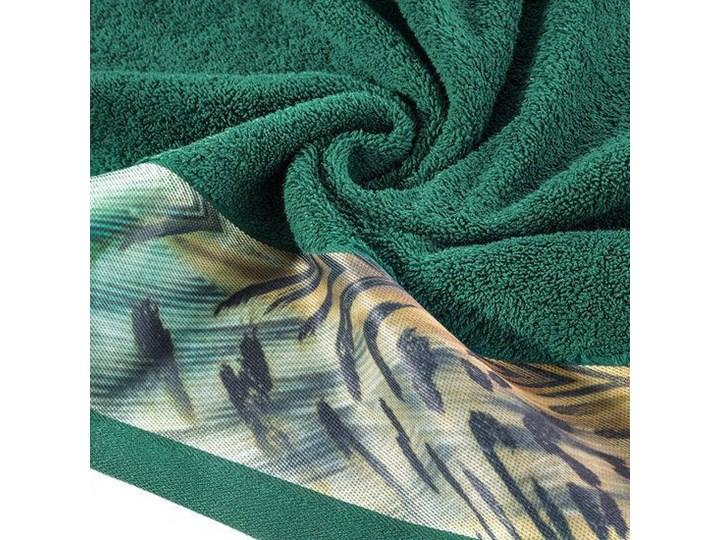 Ręcznik Eva Minge Collin zielony w rozmiarze 70x140 z drukowaną bordiurą Bawełna 70x140 cm Ręcznik kąpielowy Kategoria Ręczniki
