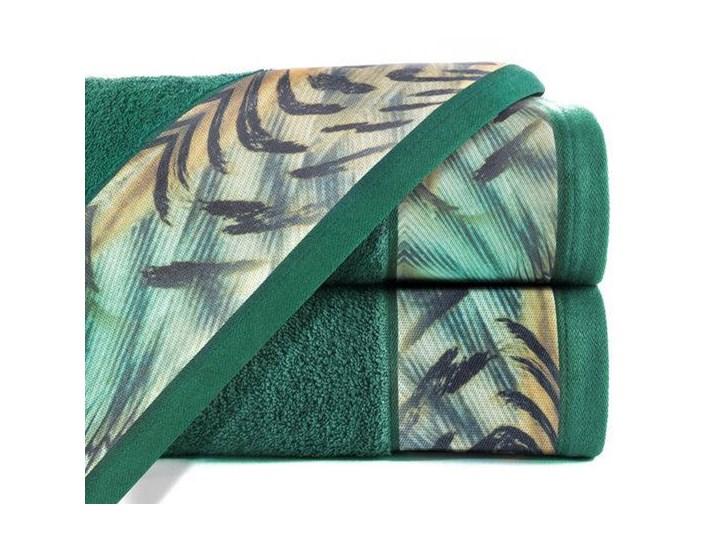 Ręcznik Eva Minge Collin zielony w rozmiarze 70x140 z drukowaną bordiurą