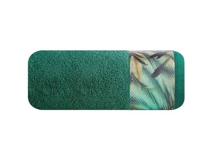 Ręcznik Eva Minge Collin zielony w rozmiarze 70x140 z drukowaną bordiurą Ręcznik kąpielowy Bawełna 70x140 cm Kategoria Ręczniki