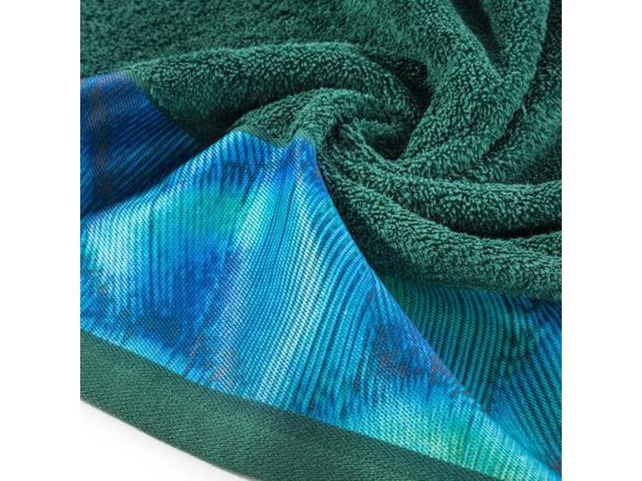 Ręcznik Eva Minge Camila ciemny zielony w rozmiarze 70x140 z drukowaną bordiurą 70x140 cm Bawełna Ręcznik kąpielowy Kategoria Ręczniki