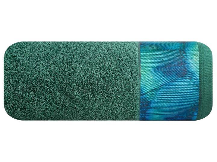 Ręcznik Eva Minge Camila ciemny zielony w rozmiarze 70x140 z drukowaną bordiurą Bawełna Ręcznik kąpielowy 70x140 cm Kategoria Ręczniki
