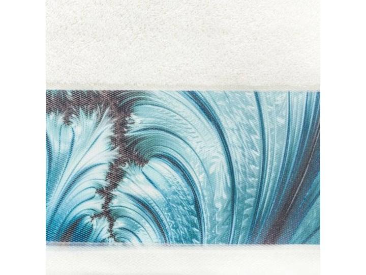 Ręcznik Eva Minge Chiara kremowy w rozmiarze 70x140 z drukowaną bordiurą Bawełna 70x140 cm Ręcznik kąpielowy Kolor Beżowy