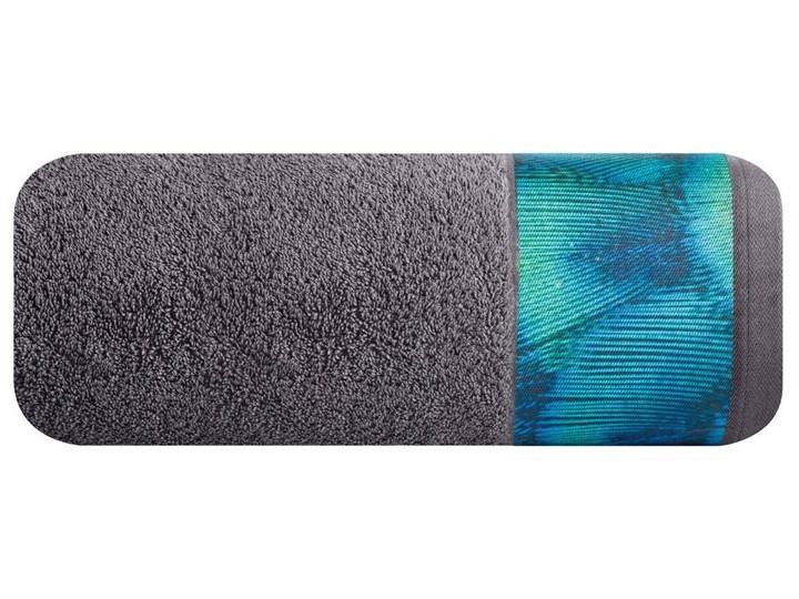 Ręcznik Eva Minge Camila stalowy w rozmiarze 50x90 z drukowaną bordiurą 50x90 cm Ręcznik kąpielowy Bawełna Kategoria Ręczniki