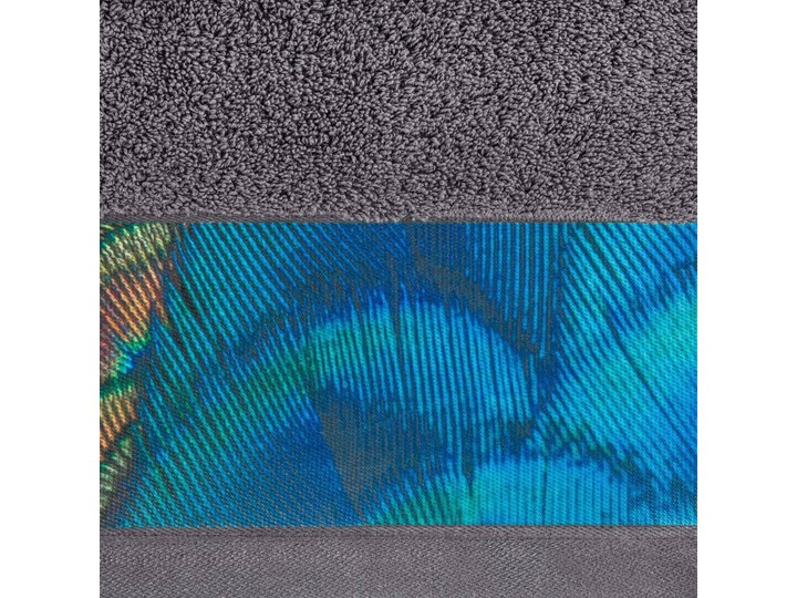 Ręcznik Eva Minge Camila stalowy w rozmiarze 50x90 z drukowaną bordiurą 50x90 cm Bawełna Ręcznik kąpielowy Kategoria Ręczniki