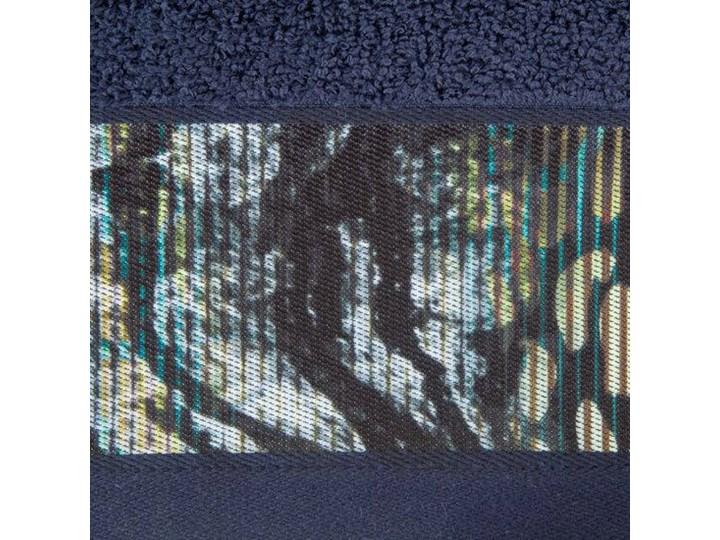 Ręcznik Eva Minge Carla granatowy w rozmiarze 70x140 z drukowaną bordiurą Ręcznik kąpielowy 70x140 cm Bawełna Kategoria Ręczniki