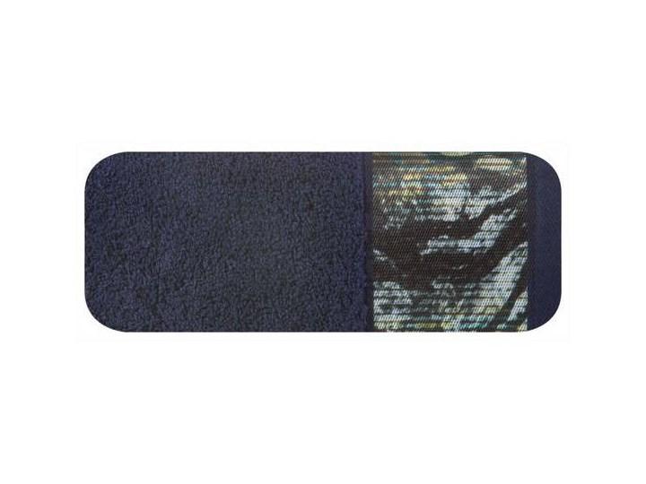 Ręcznik Eva Minge Carla granatowy w rozmiarze 70x140 z drukowaną bordiurą 70x140 cm Bawełna Ręcznik kąpielowy Kategoria Ręczniki