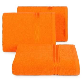 Ręcznik kąpielowy pomarańczowy 50x90 frotte 450g/m2 elegancki, lśniąca bordiura, Lori