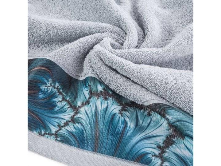 Ręcznik Eva Minge Chiara srebrny w rozmiarze 70x140 z drukowaną bordiurą 70x140 cm Bawełna Ręcznik kąpielowy Kategoria Ręczniki