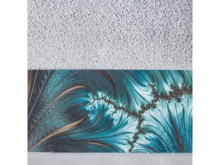 Ręcznik Eva Minge Chiara srebrny w rozmiarze 70x140 z drukowaną bordiurą Bawełna 70x140 cm Ręcznik kąpielowy Kategoria Ręczniki
