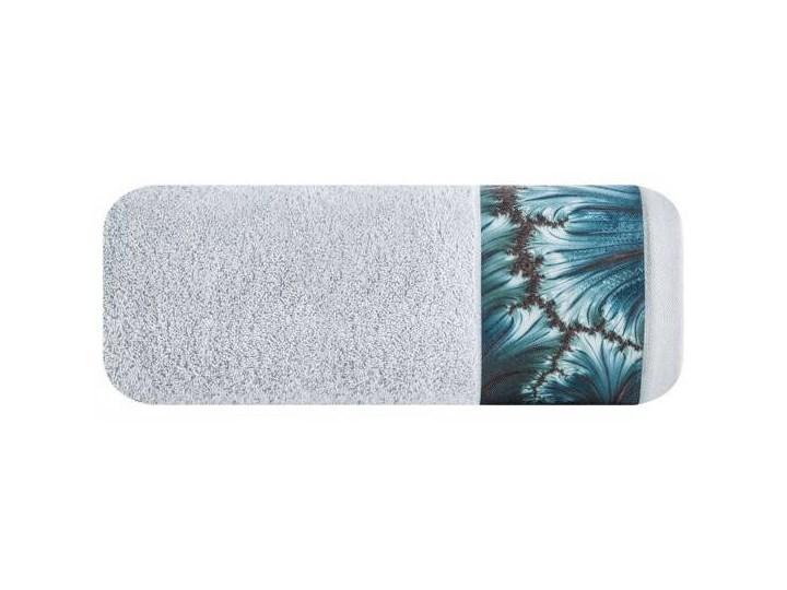 Ręcznik Eva Minge Chiara srebrny w rozmiarze 70x140 z drukowaną bordiurą Ręcznik kąpielowy Bawełna 70x140 cm Kategoria Ręczniki