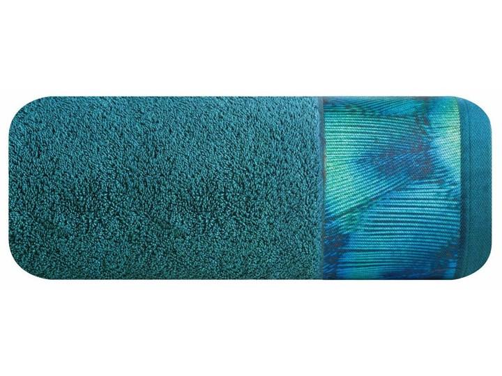 Ręcznik Eva Minge Camila turkusowy w rozmiarze 50x90 z drukowaną bordiurą Bawełna Ręcznik kąpielowy 50x90 cm Kategoria Ręczniki