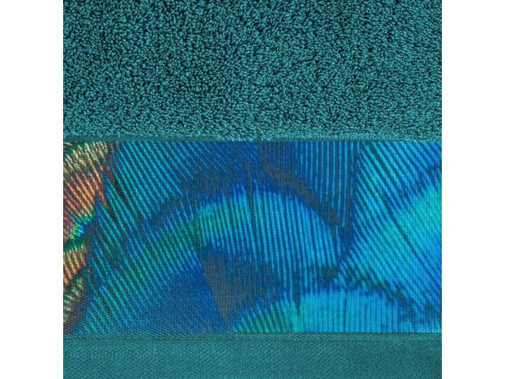 Ręcznik Eva Minge Camila turkusowy w rozmiarze 50x90 z drukowaną bordiurą Bawełna 50x90 cm Ręcznik kąpielowy Kategoria Ręczniki