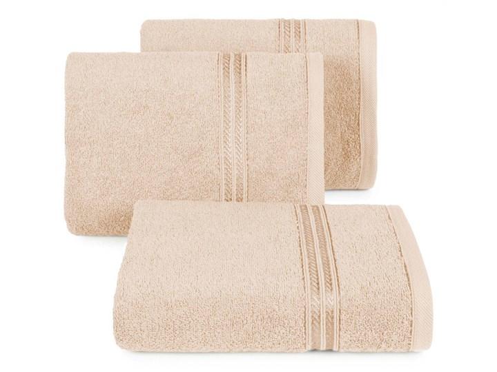Ręcznik kąpielowy beżowy 70x140 frotte 450g/m2 elegancki, lśniąca bordiura, Lori