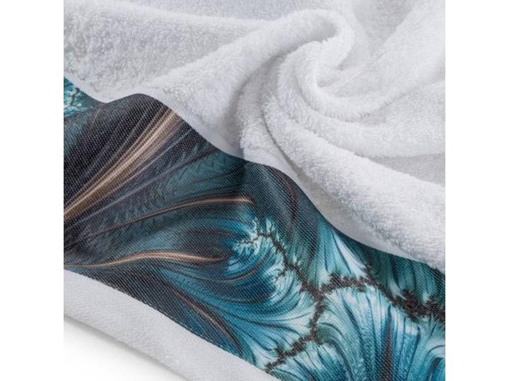 Ręcznik Eva Minge Chiara biały w rozmiarze 70x140 z drukowaną bordiurą Ręcznik kąpielowy 70x140 cm Bawełna Kategoria Ręczniki