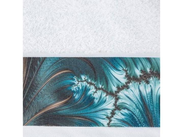 Ręcznik Eva Minge Chiara biały w rozmiarze 50x90 z drukowaną bordiurą 50x90 cm Bawełna Ręcznik kąpielowy Kategoria Ręczniki