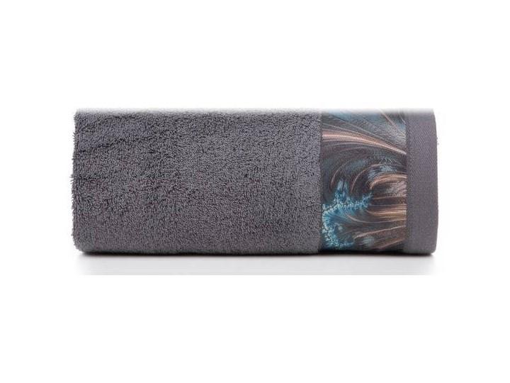 Ręcznik Eva Minge Chiara stalowy w rozmiarze 50x90 z drukowaną bordiurą Bawełna 50x90 cm Ręcznik kąpielowy Kategoria Ręczniki