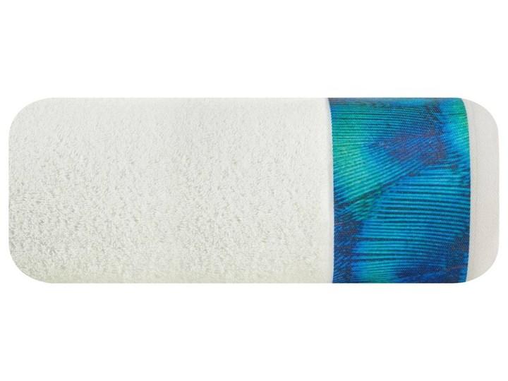 Ręcznik Eva Minge Camila kremowy w rozmiarze 50x90 z drukowaną bordiurą Bawełna Ręcznik kąpielowy 50x90 cm Kolor Beżowy