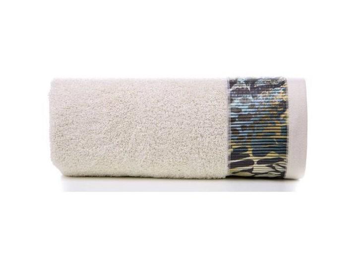Ręcznik Eva Minge Carla beżowy w rozmiarze 70x140 z drukowaną bordiurą 70x140 cm Bawełna Ręcznik kąpielowy Kategoria Ręczniki