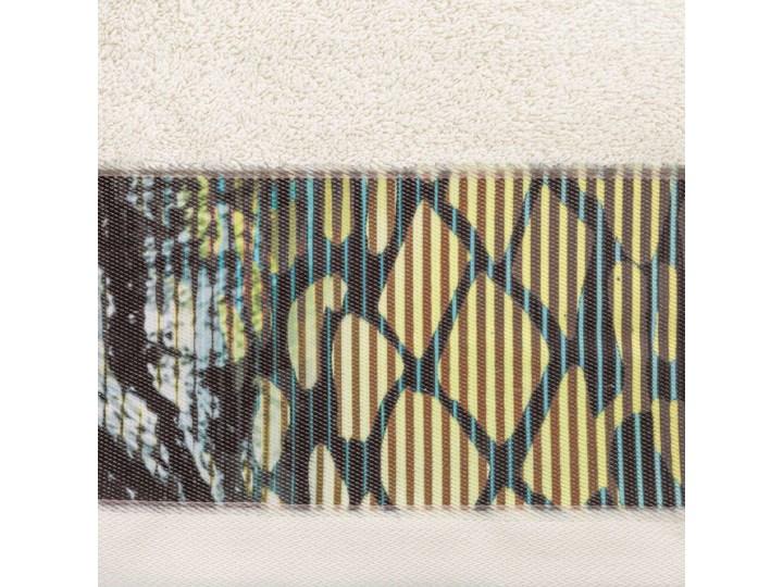 Ręcznik Eva Minge Carla beżowy w rozmiarze 70x140 z drukowaną bordiurą Ręcznik kąpielowy 70x140 cm Bawełna Kategoria Ręczniki