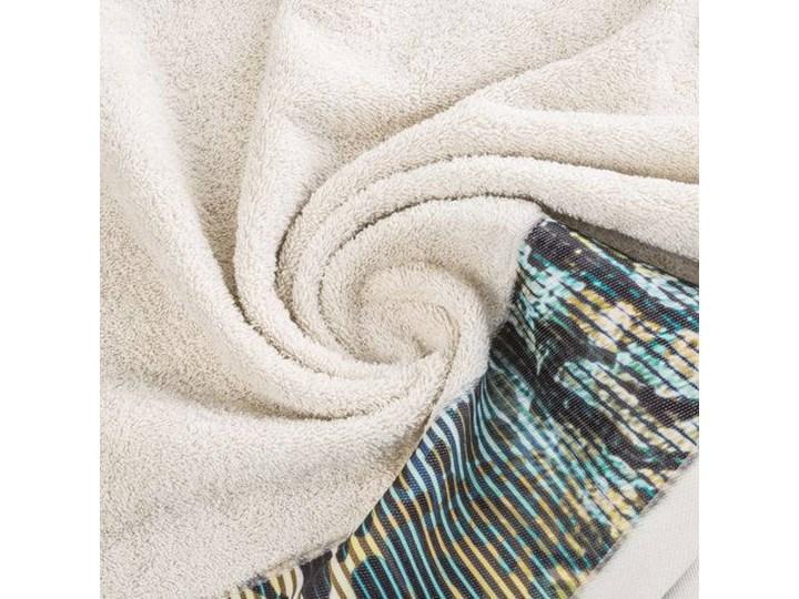 Ręcznik Eva Minge Carla beżowy w rozmiarze 70x140 z drukowaną bordiurą Bawełna Ręcznik kąpielowy 70x140 cm Kategoria Ręczniki