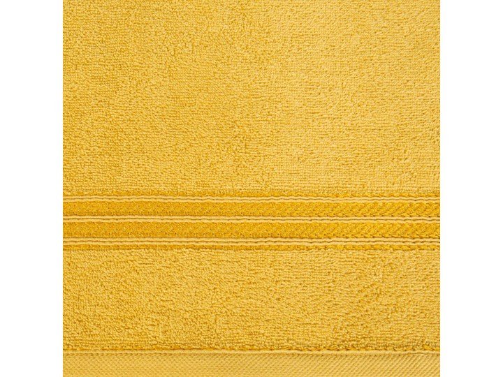 Ręcznik kąpielowy musztardowy 70x140 frotte 450g/m2 elegancki, lśniąca bordiura, Lori Bawełna 70x140 cm Kategoria Ręczniki