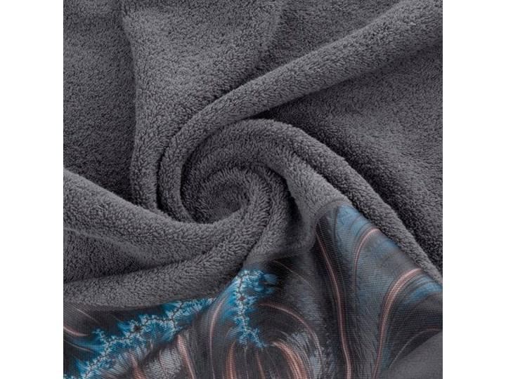Ręcznik Eva Minge Chiara stalowy w rozmiarze 70x140 z drukowaną bordiurą 70x140 cm Ręcznik kąpielowy Bawełna Kategoria Ręczniki