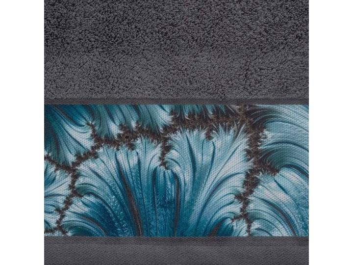 Ręcznik Eva Minge Chiara stalowy w rozmiarze 70x140 z drukowaną bordiurą Bawełna 70x140 cm Ręcznik kąpielowy Kategoria Ręczniki