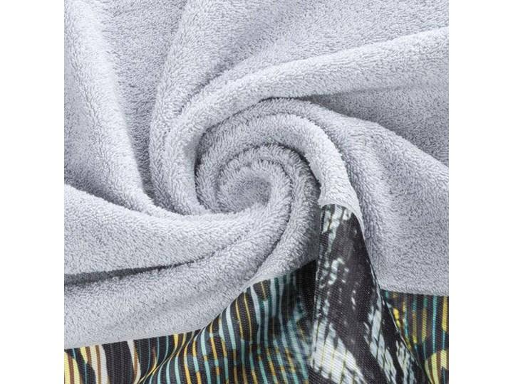 Ręcznik Eva Minge Carla srebrny w rozmiarze 70x140 z drukowaną bordiurą Bawełna Ręcznik kąpielowy 70x140 cm Kategoria Ręczniki