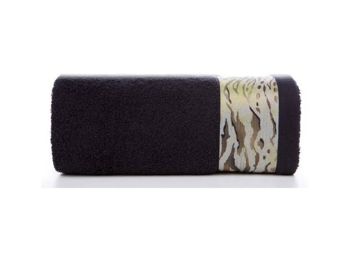 Ręcznik Eva Minge Cecil czarny w rozmiarze 50x90 z drukowaną bordiurą 50x90 cm Bawełna Ręcznik kąpielowy Kategoria Ręczniki