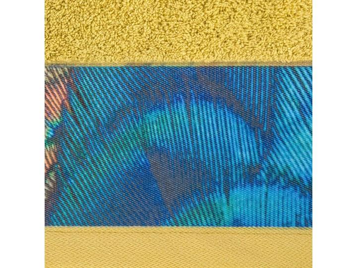 Ręcznik Eva Minge Camila musztardowy w rozmiarze 70x140 z drukowaną bordiurą Bawełna 70x140 cm Ręcznik kąpielowy Kategoria Ręczniki