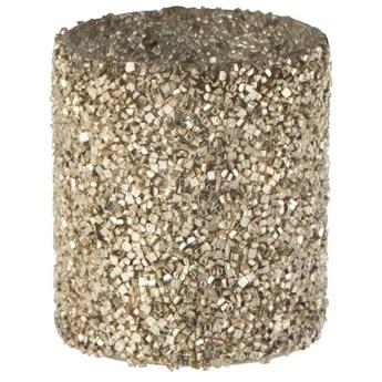 Świecznik na tealighty Cylinder Pearl Ø8x9 cm złoty