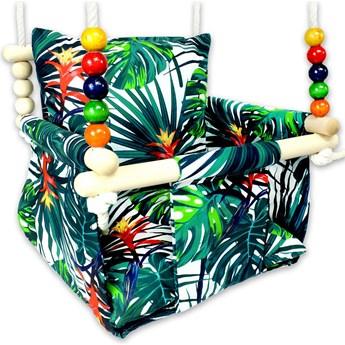 Drewniana huśtawka dla dzieci palmy - Berma