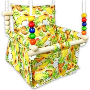 Drewniana huśtawka dla dzieci w owoce - Kabana