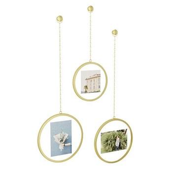 Zestaw trzech złotych ramek - Arteo