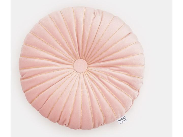 Sinsay - Poduszka dekoracyjna - Różowy Okrągłe Kolor Szary