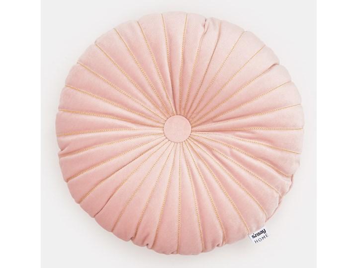 Sinsay - Poduszka dekoracyjna - Różowy Kolor Szary Okrągłe Pomieszczenie Salon