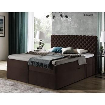 łóżko kontynentalne CHESTERFIELD : Powierzchnia spania łóżka - 180x200cm, Wybierz tkaninę  - Riviera 28