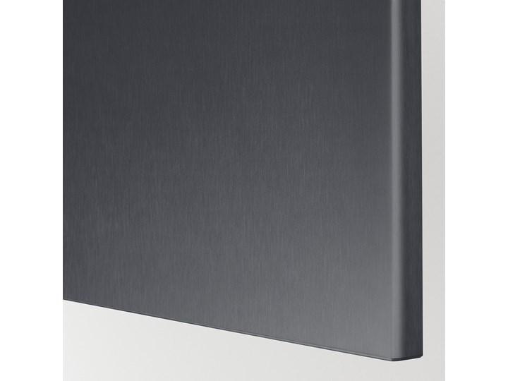 IKEA BESTÅ Kombinacja z drzwiami, Czarnybrąz/Riksviken efekt szczotkowanej ciemnej cyny, 120x42x193 cm Kategoria Szafy do garderoby Stal Głębokość 42 cm Tworzywo sztuczne Metal Plastik Szerokość 120 cm Typ Modułowa
