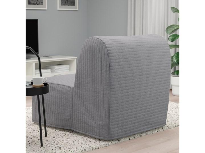 IKEA LYCKSELE LÖVÅS Fotel rozkładany, Knisa jasnoszary, Szerokość: 80 cm Tworzywo sztuczne Bawełna Tkanina Wysokość 87 cm Głębokość 100 cm Styl Nowoczesny