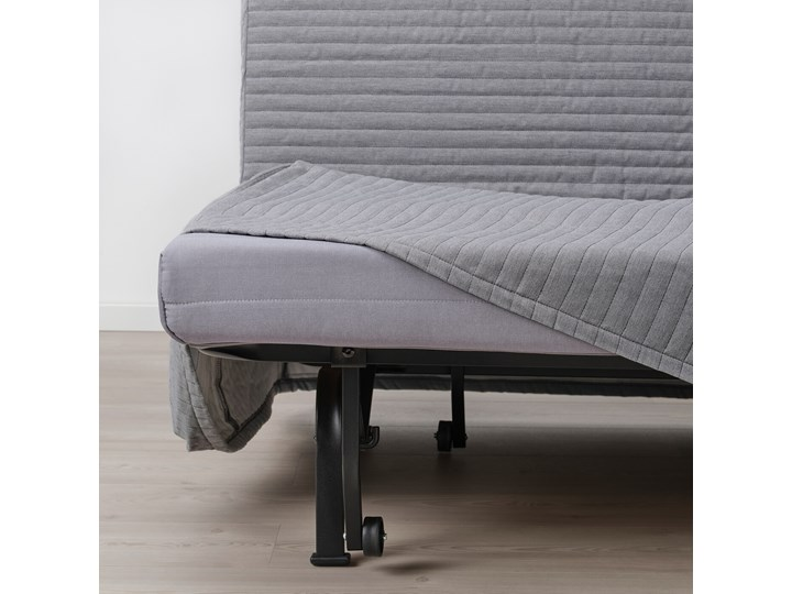IKEA LYCKSELE LÖVÅS Fotel rozkładany, Knisa jasnoszary, Szerokość: 80 cm Bawełna Wysokość 87 cm Tkanina Tworzywo sztuczne Głębokość 100 cm Styl Nowoczesny