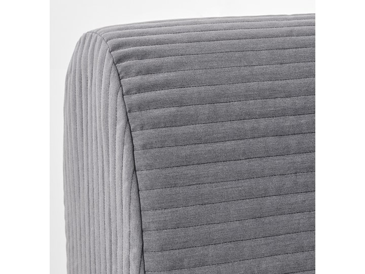 IKEA LYCKSELE LÖVÅS Fotel rozkładany, Knisa jasnoszary, Szerokość: 80 cm Tkanina Tworzywo sztuczne Wysokość 87 cm Głębokość 100 cm Bawełna Pomieszczenie Salon