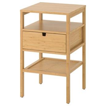 IKEA NORDKISA Stolik nocny, bambus, 40x40 cm