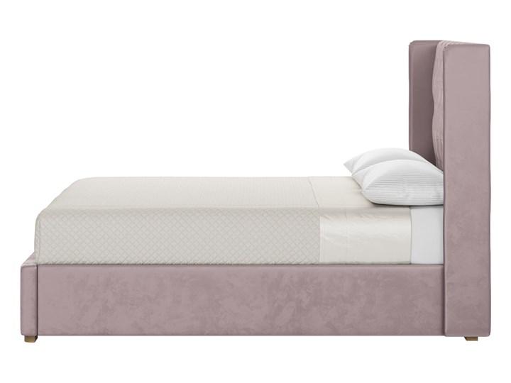 Łóżko Jewel 140x200 cm z pikowanym zagłówkiem i panelami bocznymi Drewno Łóżko pikowane Welur Kategoria Łóżka do sypialni Zagłówek Z zagłówkiem