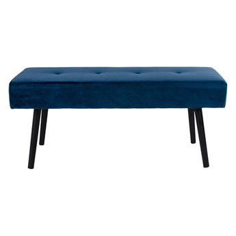 Niebieska aksamitna ławka loomi.design Skiby