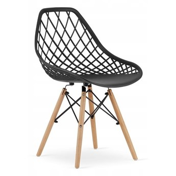 Krzesło nowoczesne ażurowe LUISE czarne